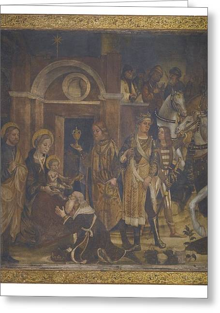 The Followers Greeting Cards - The Adoration Of The Magi Greeting Card by Celestial Images