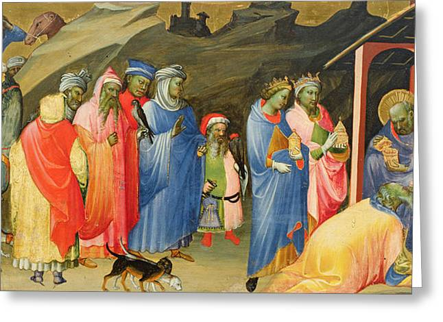 The Horse Greeting Cards - The Adoration of the Magi Greeting Card by Gherardo Starnina