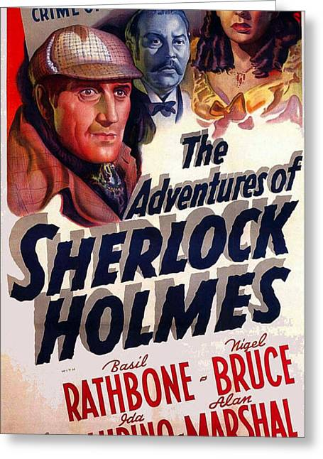 The Adventures Of Sherlock Holmes Greeting Card by Studio Release