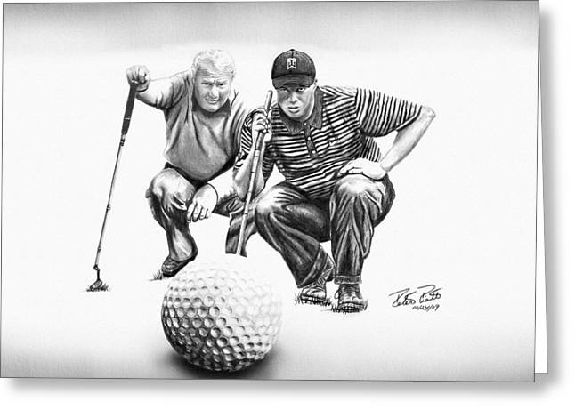 """golf Caps"" Greeting Cards - The Advisor LE Greeting Card by Peter Piatt"