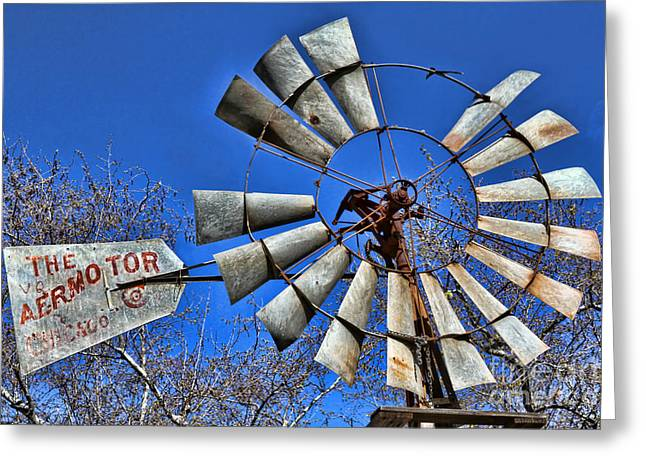 Historic Country Store Greeting Cards - The Aeromotor by Diana Sainz Greeting Card by Diana Sainz