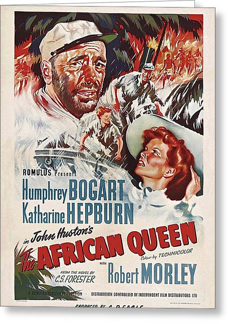 Movie Poster Gallery Greeting Cards - The African Queen B Greeting Card by Movie Poster Prints