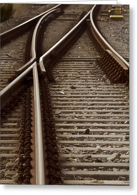 Railroad Tie Greeting Cards - The Age Of Rail Greeting Card by Odd Jeppesen