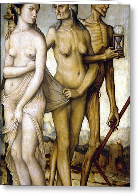 Important Greeting Cards - The Ages Of Man and Death Greeting Card by Hans Baldung