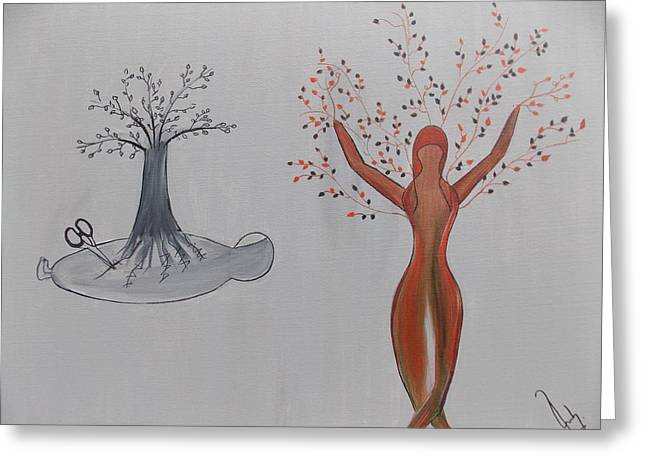 Aha Greeting Cards - the AHA MOMENT Blossom Greeting Card by Ruby Ahluwalia