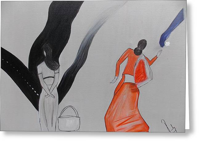 Aha Greeting Cards - The Aha Moment Towards Divinity Greeting Card by Ruby Ahluwalia