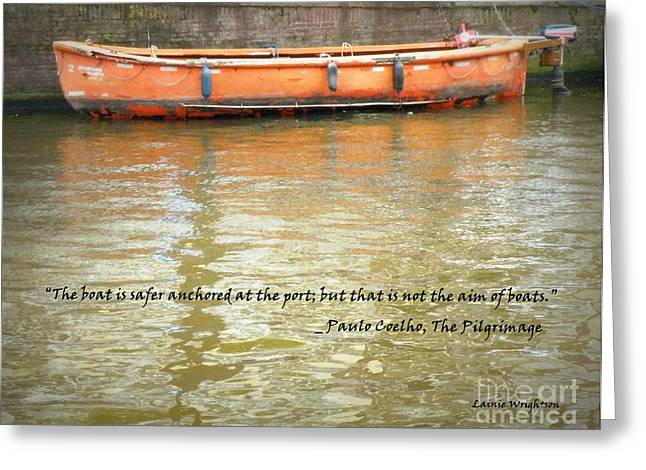 The Aim Of Boats Greeting Card by Lainie Wrightson
