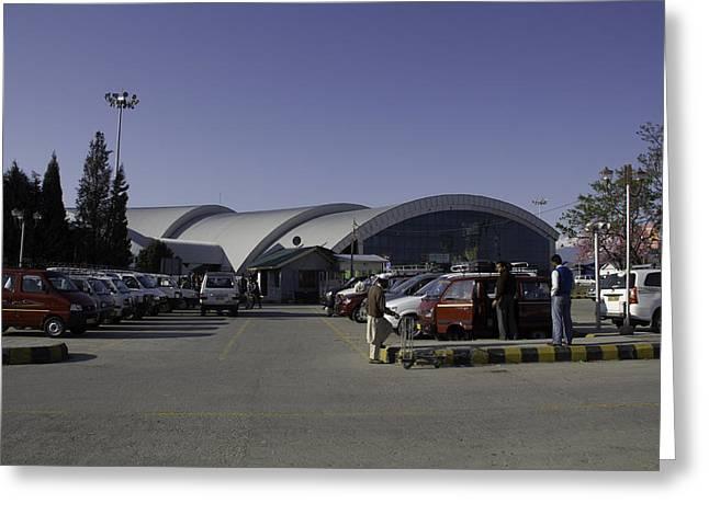 The Airport In Srinagar The Capital Of Jammu And Kashmir Greeting Card by Ashish Agarwal