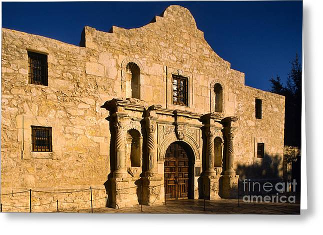 The Alamo Greeting Card by Inge Johnsson