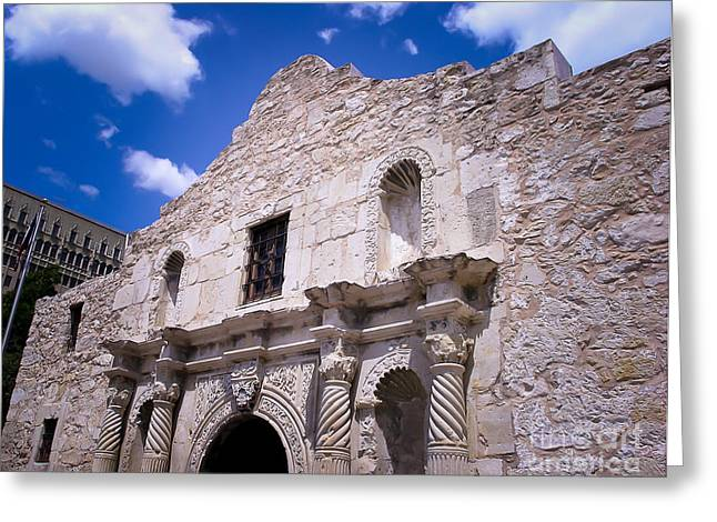 Remembering The Life Greeting Cards - The Alamo Greeting Card by Kathleen A McDermott