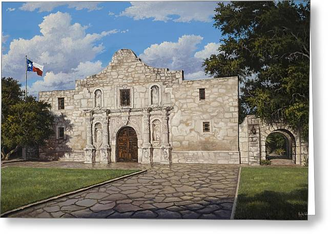Texas Architecture Greeting Cards - The Alamo Greeting Card by Kyle Wood