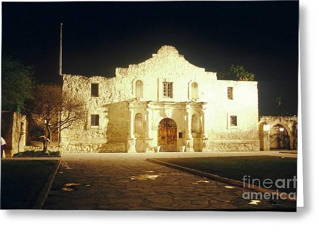 Texas Revolution Greeting Cards - The Alamo. San Antonio, Texas Greeting Card by Van D. Bucher