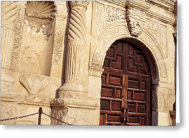 Entrance Door Greeting Cards - The Alamo San Antonio Tx Greeting Card by Panoramic Images