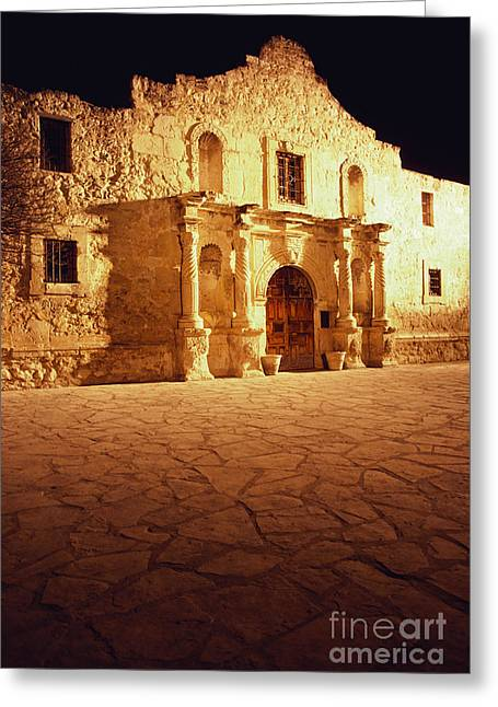 Texas Revolution Greeting Cards - The Alamo Greeting Card by Van D. Bucher