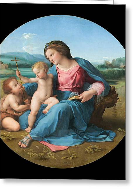1510 Paintings Greeting Cards - The Alba Madonna Greeting Card by Raphael