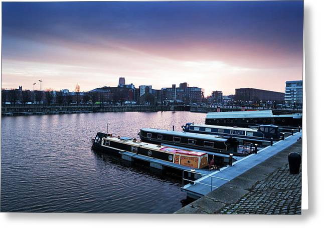 The Albert Dock, Liverpool, England Greeting Card by Panoramic Images