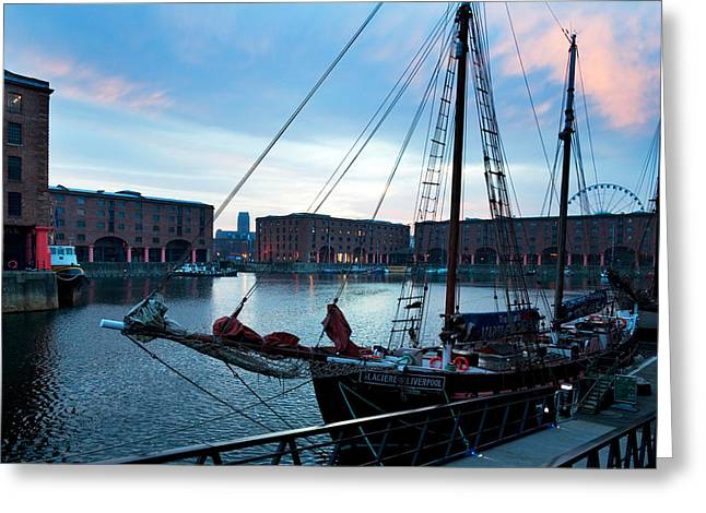 Historic England Greeting Cards - The Albert Dock, Liverpool, Merseyside Greeting Card by Panoramic Images