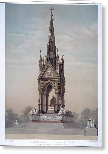 The Albert Memorial Greeting Card by British Library