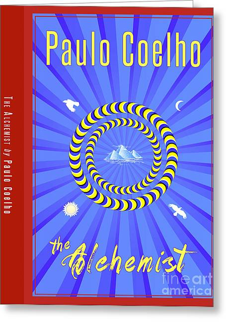 Book Cover Art Drawings Greeting Cards - The Alchemist Book Cover Poster Art 1 Greeting Card by Nishanth Gopinathan