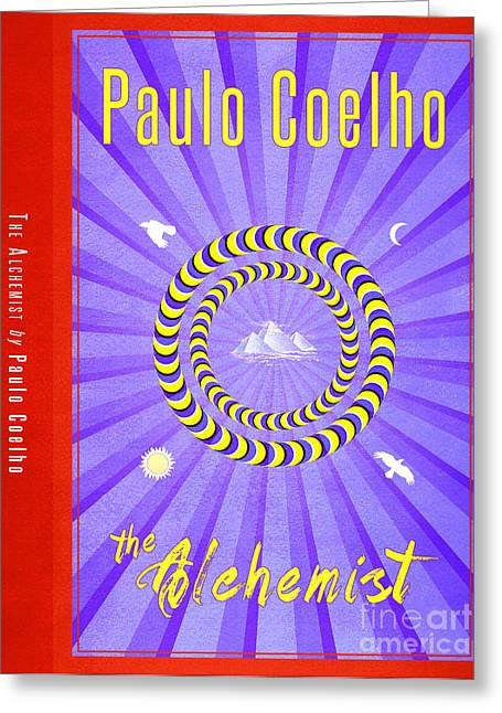Book Jacket Greeting Cards - The Alchemist Book Cover Poster Art 2 Greeting Card by Nishanth Gopinathan