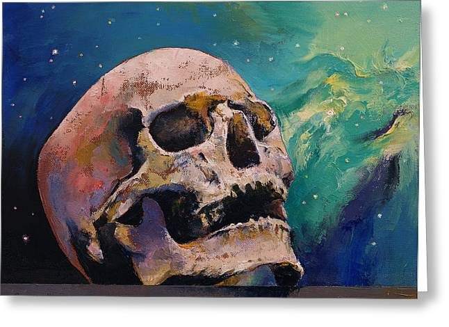 Dark Art Greeting Cards - The Alchemist Greeting Card by Michael Creese