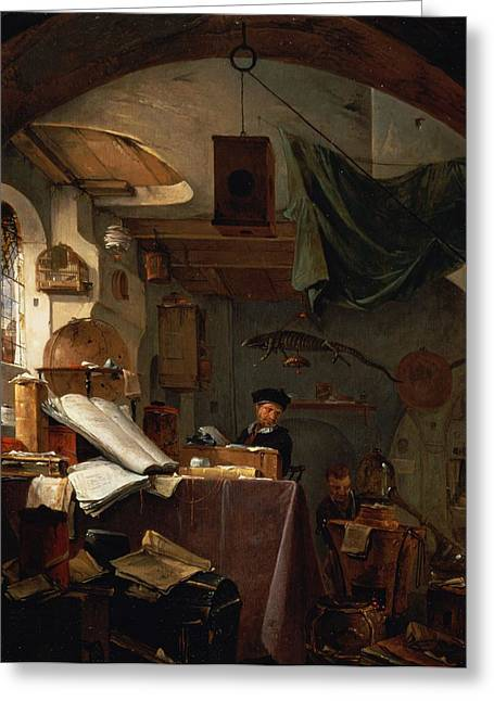 Basement Photographs Greeting Cards - The Alchemist Oil Greeting Card by Thomas Wyck