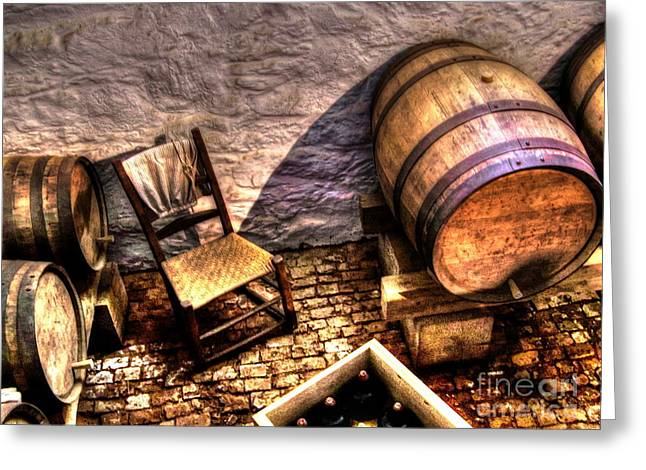 Winetasting Greeting Cards - The Ale Cellar Seat Greeting Card by Dan Stone