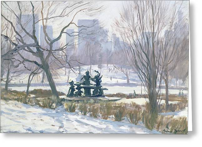 The Alice In Wonderland Statue, Central Park, New York Greeting Card by Julian Barrow