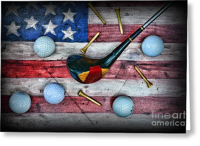 Condor Greeting Cards - The All American Golfer Greeting Card by Paul Ward