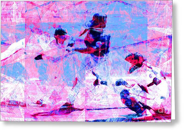 Att Baseball Park Greeting Cards - The All American Pastime 20140501 Long v2 Greeting Card by Wingsdomain Art and Photography