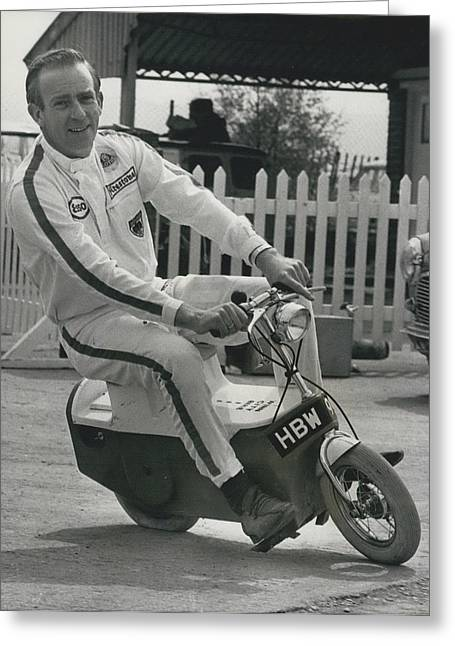 Retro Photography Greeting Cards - The All-electric Two-wheeler. The Winn City Bike. Greeting Card by Retro Images Archive