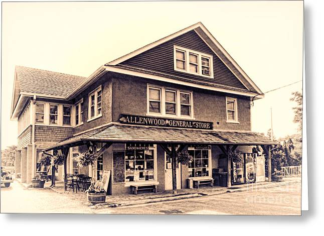 Editorial Greeting Cards - The Allenwood General Store Greeting Card by Olivier Le Queinec