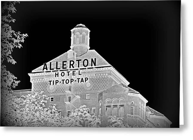 Magnificent Mile Greeting Cards - The Allerton Hotel Greeting Card by Toni Abdnour