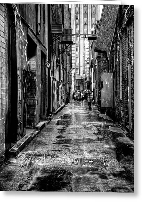 Back Alley Greeting Cards - The Alleyway in Market Square - Knoxville Tennesse Greeting Card by David Patterson