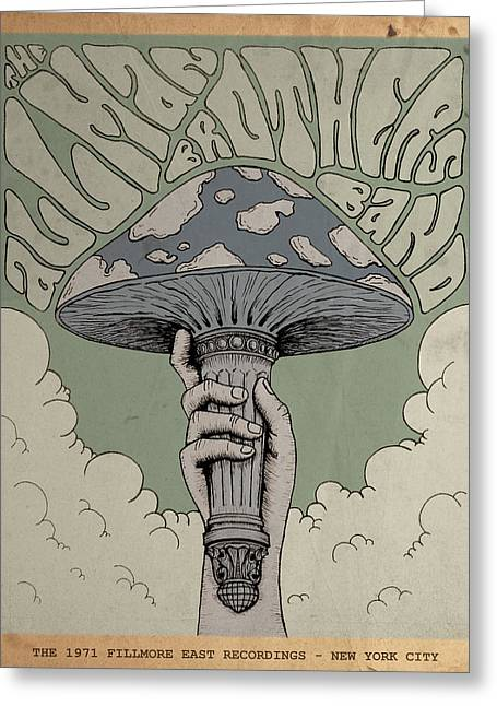 The Allman Brothers Band - Fillmore East Greeting Card by Geraldinez