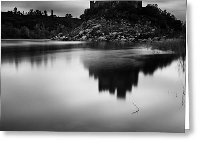 The Almourol castle Greeting Card by Jorge Maia