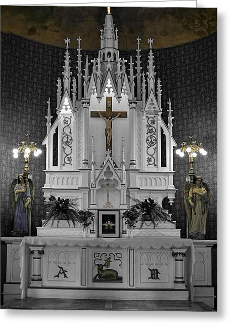 O Lord Greeting Cards - The Altar Greeting Card by Image Takers Photography LLC - Laura Morgan
