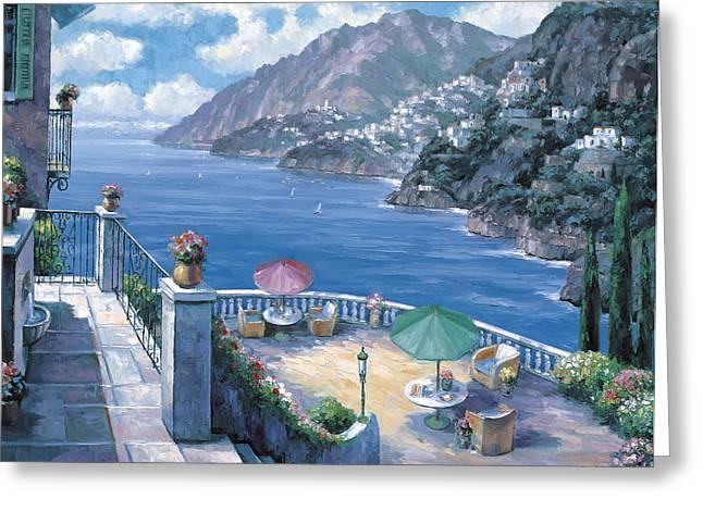 The Amalfi Coast Greeting Card by John Zaccheo