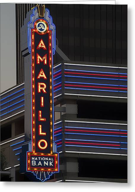 Amarillo Greeting Cards - The Amarillo National Bank Greeting Card by Mountain Dreams