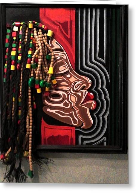 African-americans Sculptures Greeting Cards - The Amazing Sista Greeting Card by SBrian Morgan