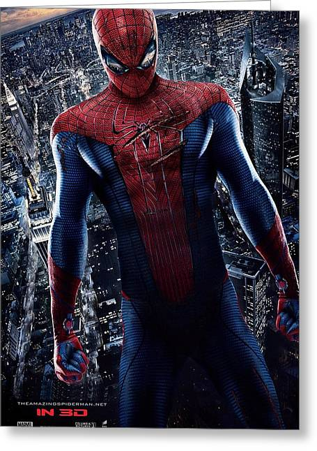Spider-man Greeting Cards - The Amazing Spider-Man  Greeting Card by Movie Poster Prints