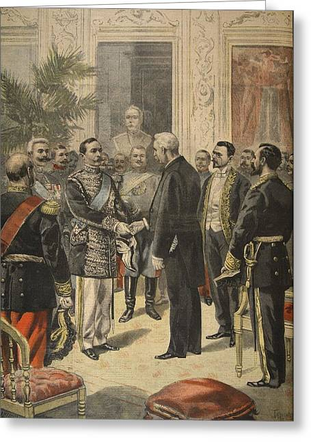 Shaking Hands Greeting Cards - The Ambassador Of Russia, Prince Greeting Card by F.L. & Tofani, Oswaldo Meaulle