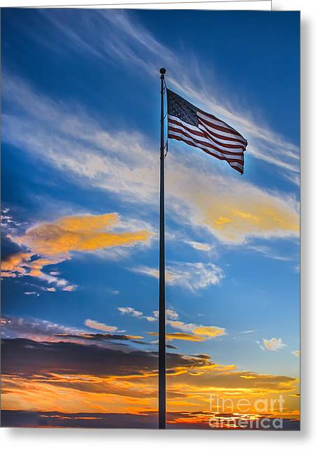 Betsy Ross Greeting Cards - The American Beauty Greeting Card by Robert Bales