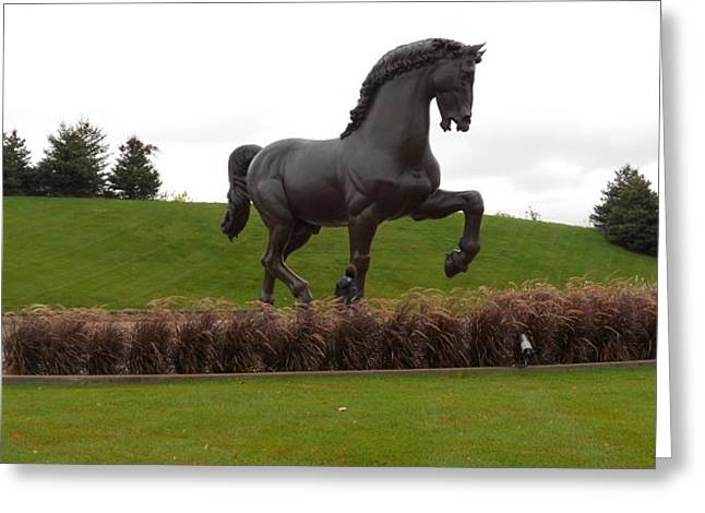 The Horse Sculptures Greeting Cards - The American Horse Sculpture Greeting Card by Dotti Hannum