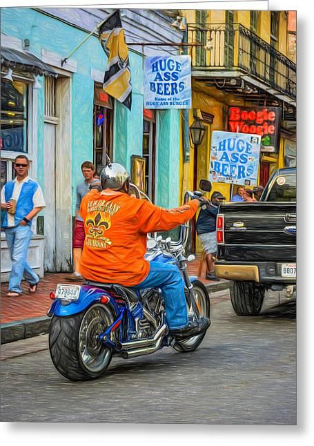 The American Way - Harleys Pickups And Huge Ass Beers - Paint Greeting Card by Steve Harrington