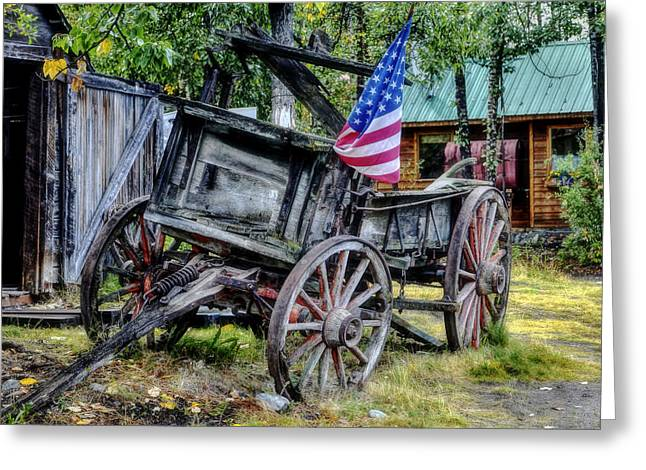 Vintage Log House Greeting Cards - The American West Greeting Card by Mountain Dreams