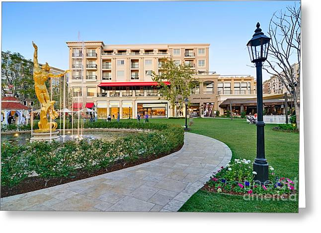 Gold Buyer Greeting Cards - The Americana at Brand outdoor shopping mall in California. Greeting Card by Jamie Pham
