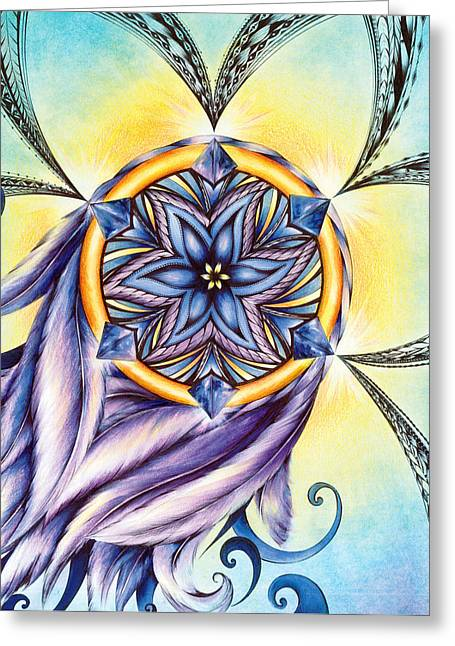 Andrea Carroll Greeting Cards - The Amethyst of Time Greeting Card by Andrea Carroll
