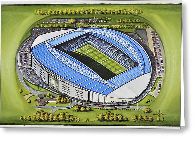 Soccer Greeting Cards Greeting Cards - The Amex Stadium - Brighton and Hove Albion Greeting Card by D J Rogers