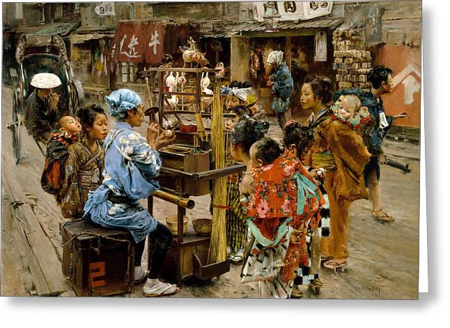 Frederick Greeting Cards - The Ameya Greeting Card by Robert Frederick Blum
